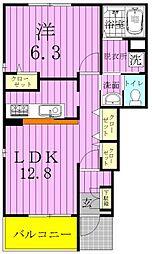 千葉県鎌ケ谷市鎌ケ谷9丁目の賃貸アパートの間取り