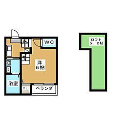 愛知県名古屋市中川区山王3丁目の賃貸アパートの間取り