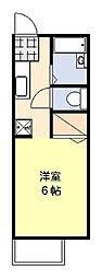 ウエストビレッジA[2階]の間取り