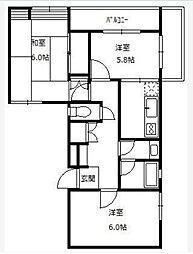 渋谷本町マンション[2階]の間取り