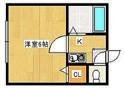 天下茶屋ハイツ[2階]の間取り