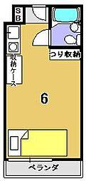 紫竹学生専用マンション コート紫竹[206号室]の間取り