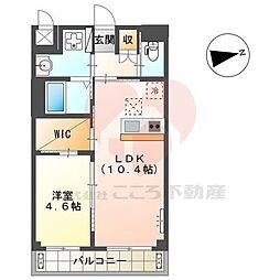 (仮称)堺市北区新金岡町新築マンション 1階1LDKの間取り