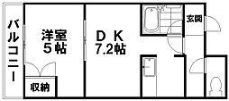 アウロラ本郷通7丁目[102号室]の間取り