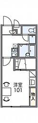 レオパレスグリチーネ[3階]の間取り