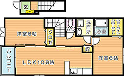 ロワンテールII[2階]の間取り