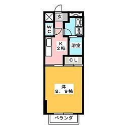 ジュネスブライトンA[2階]の間取り