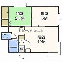 ピアコート花川B[3階]の間取り