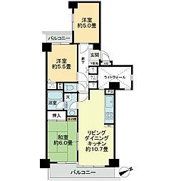 ライオンズマンション鶴ヶ峰ガーデン[3階]の間取り