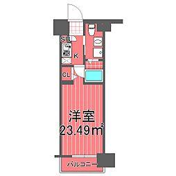 グリフィン新横浜参番館[3階]の間取り