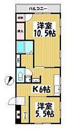 サクラ東山マンション[101号室]の間取り