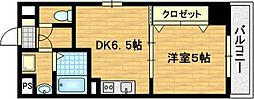 滋賀県大津市中央4丁目の賃貸マンションの間取り