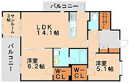 アムパルク[2階]の間取り