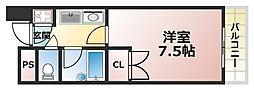 ジュネス六甲3[4階]の間取り