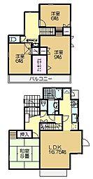 [一戸建] 千葉県佐倉市千成1丁目 の賃貸【/】の間取り