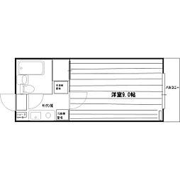 セレクション長田II[2-B号室]の間取り