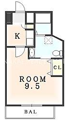 ソニックマンション[302号室]の間取り