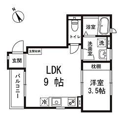 ケイズホーム[1階]の間取り