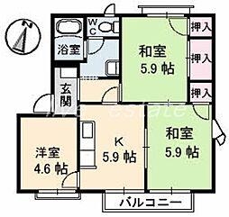 屋島フレグランス A棟[2階]の間取り