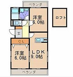 SEIKAハイツ[203号室]の間取り