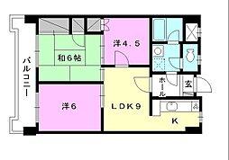 野中第一ビル[605 号室号室]の間取り