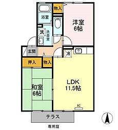 AMIGO TSUBASA[102号室]の間取り