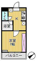 プリンスマンション[101号室]の間取り