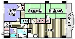 フィアテル岸和田[202号室]の間取り