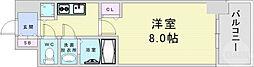 JR大阪環状線 野田駅 徒歩8分の賃貸マンション 12階1Kの間取り