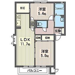 セレーネ 砥上[1階]の間取り