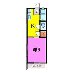 コーポ東新[0101号室]の間取り
