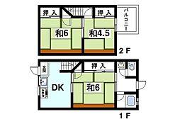 [テラスハウス] 奈良県生駒市中菜畑2丁目 の賃貸【/】の間取り