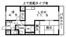 カサブランカ松田[402号室号室]の間取り