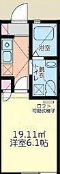 神奈川県川崎市多摩区枡形5丁目の賃貸アパートの間取り