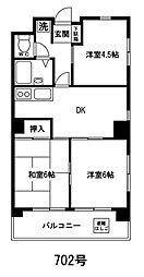 海老沢第一ビル[603号室]の間取り