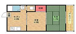 シンセイハイツ[6階]の間取り