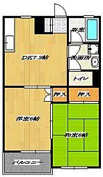 Twin House B[B101号室]の間取り