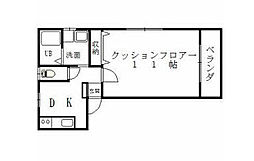愛媛県松山市南斎院町の賃貸アパートの間取り