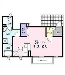 ラ・クゥー[A 102号室号室]の間取り