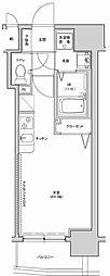 アクアプレイス南堀江[14階]の間取り