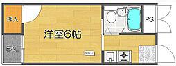 OMレジデンス西加賀屋[3階]の間取り