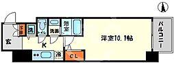 エスリード大阪心斎橋 13階1Kの間取り