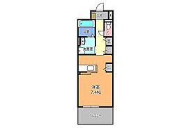 東武宇都宮線 西川田駅 徒歩6分の賃貸マンション 1階1Kの間取り