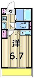 仮称)加平3丁目新築アパート[102号室]の間取り