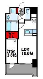 JR篠栗線 柚須駅 徒歩24分の賃貸マンション 1階1LDKの間取り