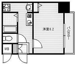 阪堺電気軌道阪堺線 聖天坂駅 徒歩2分の賃貸マンション 7階1Kの間取り