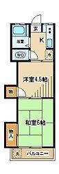 東京都府中市是政2丁目の賃貸マンションの間取り