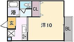 メゾンドゥエスポワール[2階]の間取り
