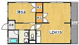高村ハイツ[2階]の間取り