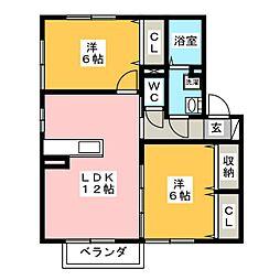 ディゴス八幡[2階]の間取り